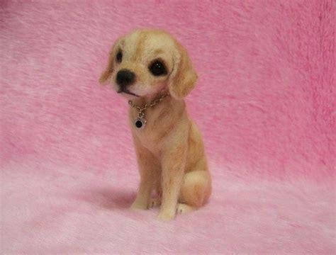 mini lab puppies needle felted labrador retriever puppy miniature wool felt