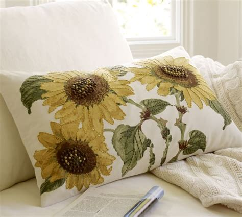 Sunflower Rug Pottery Barn by Sunflower Embroidered Lumbar Pillow Cover Pottery Barn