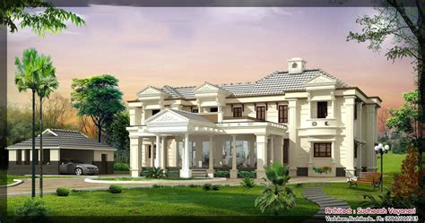 luxury style homes beautiful house designs 5 7 keralahouseplanner