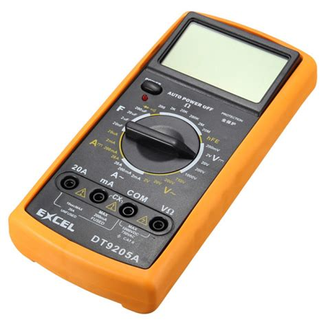 Multimeter Digital Dt9205a buy excel dt9205a digital ac dc ammeter resistance