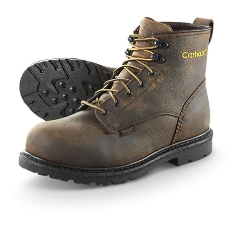 mens steel toed boots s carhartt 174 6 quot waterproof 3906 steel toe boots brown