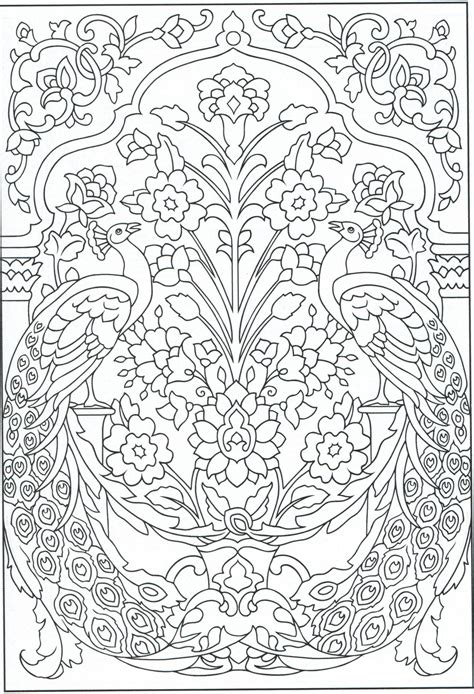 peacock coloring page for adults 1 31 color pages