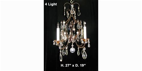 Antique White Metal Mini Chandelier With Colored Cystals Ch76 Small Antique Venetian Colored 4 Light Chandelier The World Of Design