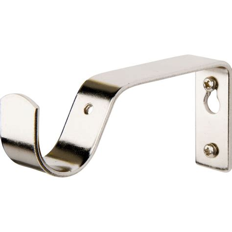 curtain brackets harrison drape satin nickel 35mm fixed curtain pole 3m
