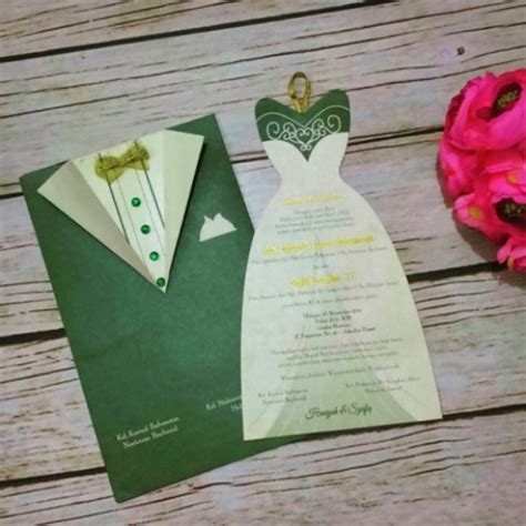 desain kartu nama unik di surabaya undangan uk 02 coconut card undangan pernikahan