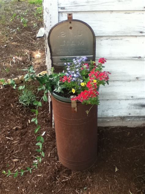 Mailbox Post With Planter by Mailbox Planter Homestead
