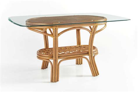 South Sea Rattan Palm Harbor Wicker Oval Glass Dining