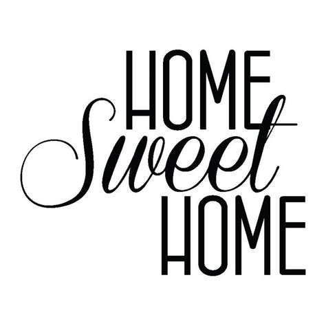 home sweet home decoration wall sticker home sweet home 55cm x 60cm