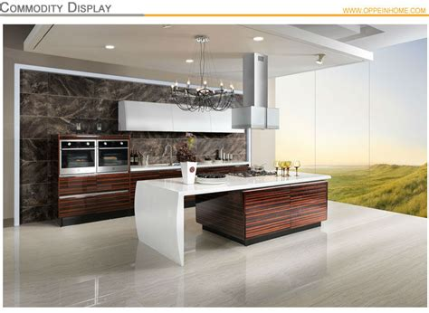 Aluminum Kitchen Cabinet oppein wood veneer acrylic indian kitchen cabinets with