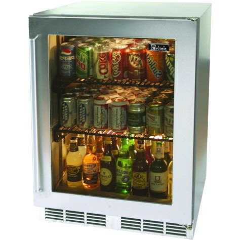 Glass Door Mini Refrigerator Small Glass Door Refrigerator For Home With Cool 3 Tiers And Chrome Pull Door Design