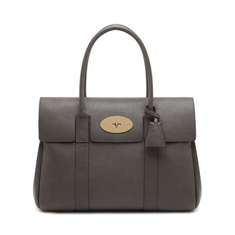 Tribute To A Timeless Classic Mulberrys Leather Bayswater Bag by Mulverrt Bayswater Mole Grey Small Classic Grain 1700