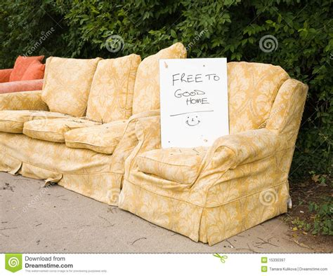old couches for free old furniture royalty free stock photography image 15330397