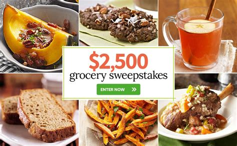 Grocery Giveaway Sweepstakes - meredith corporation 2 500 grocery sweepstakes familysavings