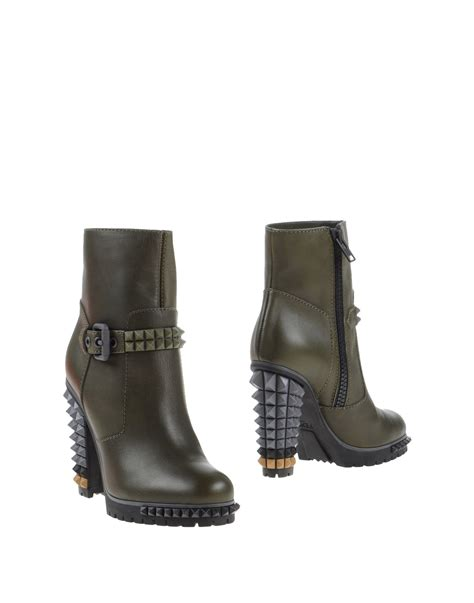 fendi boots for lyst fendi ankle boots in green