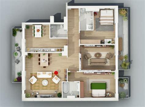 desain denah apartemen minimalis