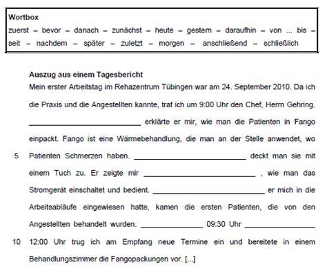 Vorlage Praktikum Tagesbericht B3 Niveau A Wortschatz Zeitlicher Ablauf