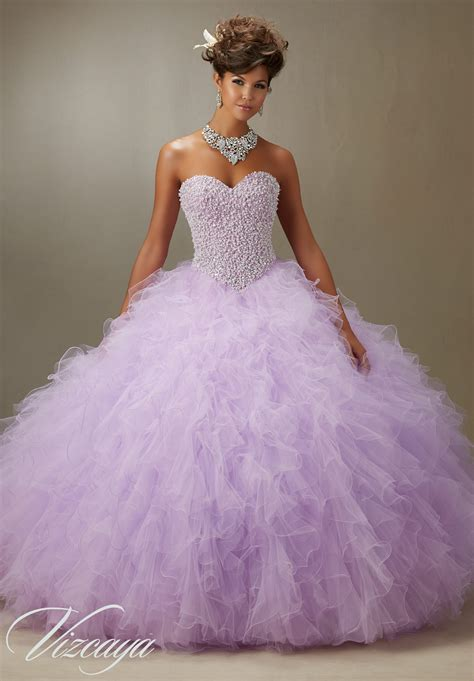 Madeline Mb Swt Purple tulle quinceanera dress style 89077 morilee