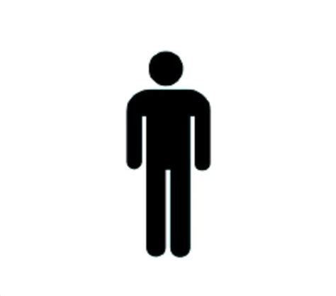 bathroom sign person men restroom symbol clipart best