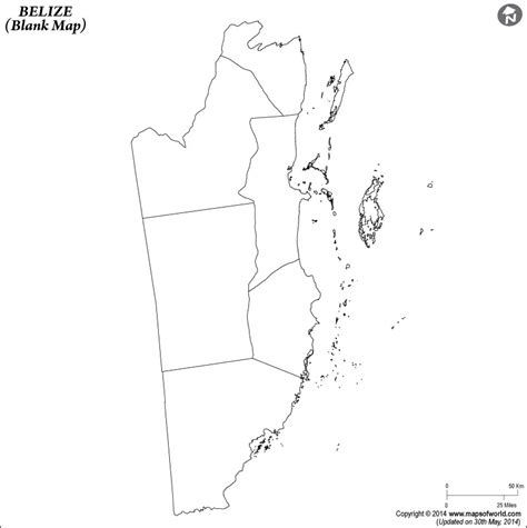 coloring page of map of belize blank map of belize belize outline map
