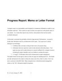 Sample Progress Report Letter Progress Report Letter Format Best Template Collection