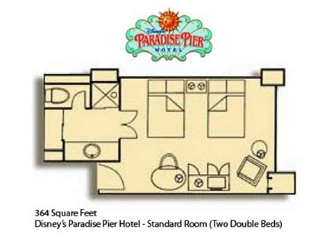 disneyland hotel room layout disney s paradise pier hotel at disneyland resort the