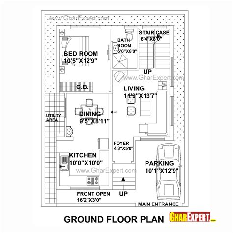 Home Design For 30x50 Plot Size by House Plan For 30 Feet By40 Feet Plot Plot Size 133square