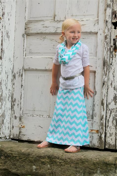 toddler maxi skirt in chevron jersey knit in many colors