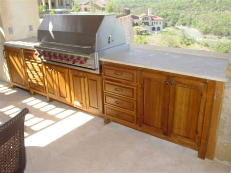 outside kitchen cabinets outdoor kitchen wood cabinets your best and easy outdoor