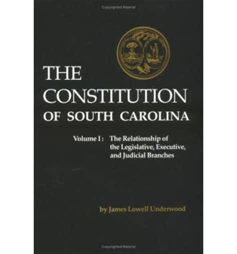 Executive Mba Of South Carolina by The Constitution Of South Carolina The Relationship Of