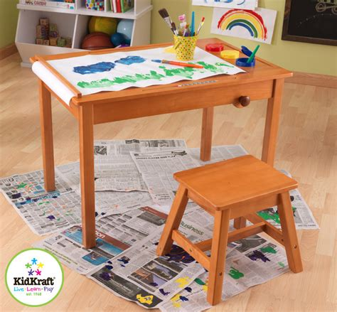 kids art table kids art table with stool from vistastores traditional