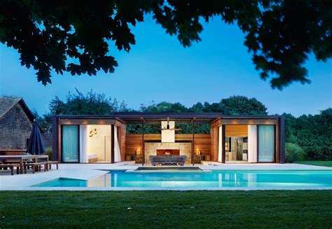 House Plans With Indoor Pools a contemporary pool house in the hamptons contemporist