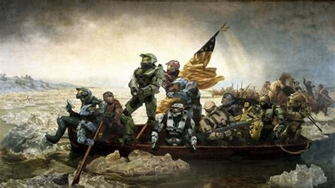 george washington painting boat i didn t know george washington played halo laugh roulette
