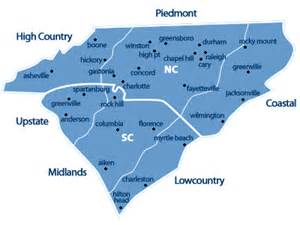 pin blank carolina map on
