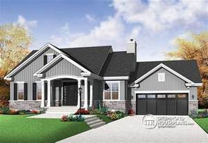 Open Concept Bungalow House Plans by House Plan W3236 V1 Detail From Drummondhouseplans Com