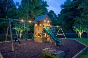 putting solar lights on the playground cool stuff pinterest backyards the genius and
