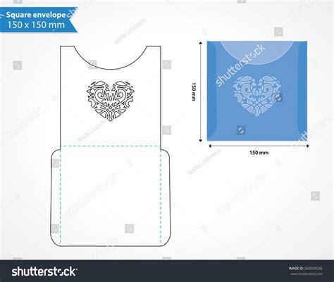 die cut templates free laser cut pocket envelope template wedding stock vector