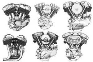 From top left to bottom right harley flathead harley evolution