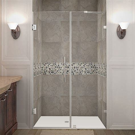 48 frameless shower door american standard ovation 48 in x 72 in semi frameless