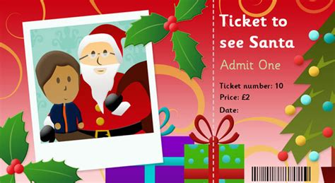 printable santa tickets editable ticket to see santa free early years primary