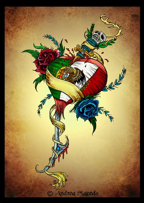 mexico flag tattoo designs portuguese mexican color by prettygore on deviantart