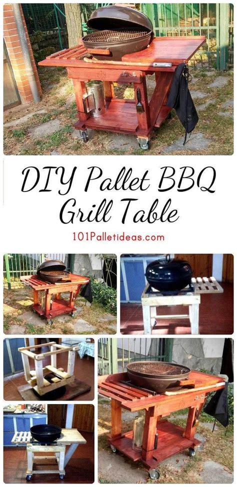 bbq table diy diy pallet bbq grill table