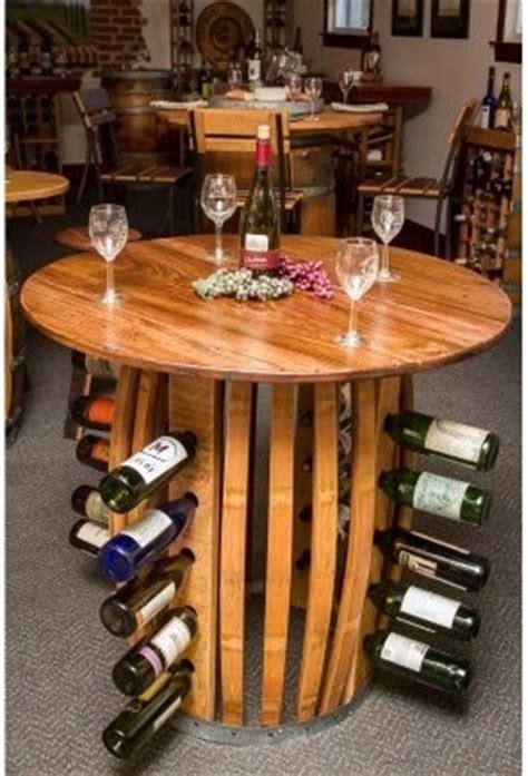 Napa East Stave Hoop Wine Barrel Wine Rack Counter Wine Barrel Dining Table
