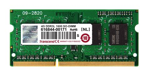 Ram 4gb Pc transcend 4gb 1600mhz ddr3 laptop ram me it shop
