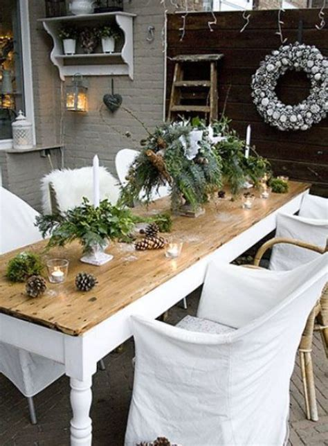 beautiful tables 18 beautiful outdoor christmas table settings digsdigs