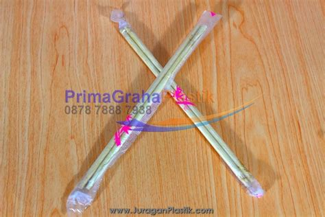 Sumpit Plastik Higienis 1x Pakai sumpit bambu home