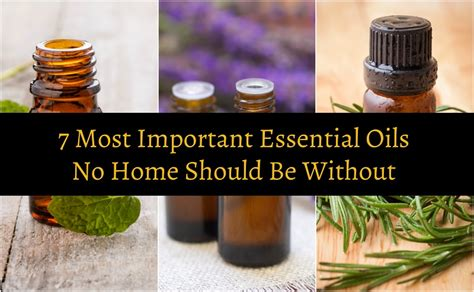 important essential oils  home