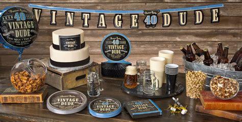 vintage dude 40th birthday supplies 40th birthday