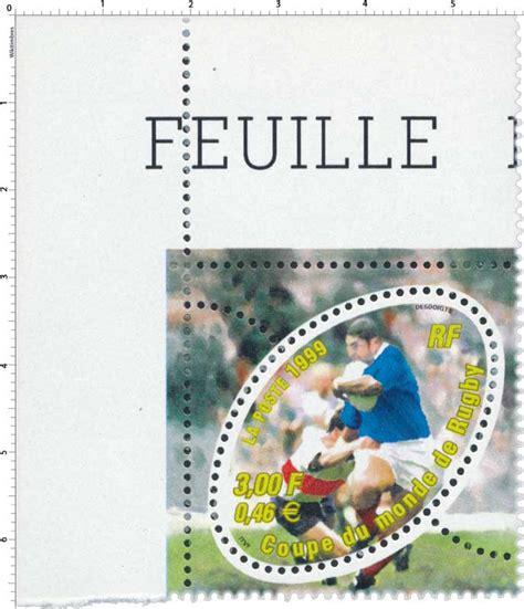 timbre 1999 coupe du monde de rugby wikitimbres