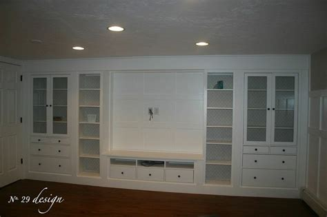 ikea built ins wall of built ins out of ikea hemnes cabinets