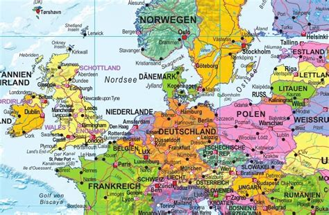 german map of the world political world map 1 30 mio german world maps